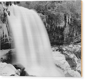 Dry Falls Winter 2006 Wood Print