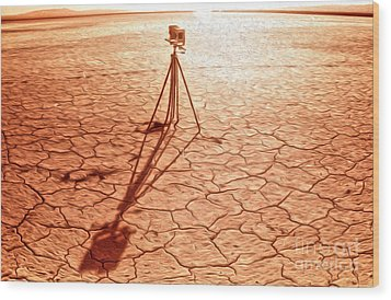 Dry Lake Photography Wood Print by Gregory Dyer