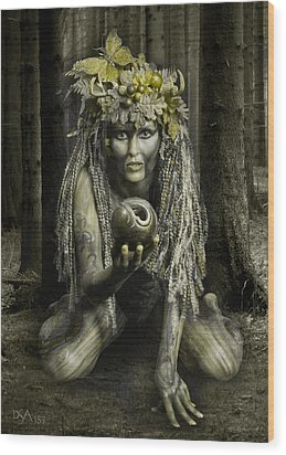Dryad I Wood Print by David April