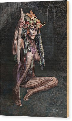 Dryad IIi Wood Print by David April