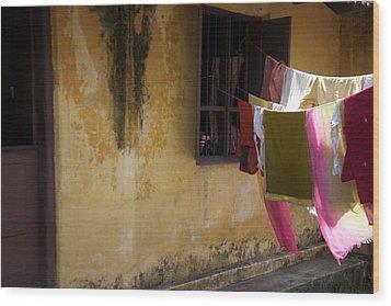 Drying In The Sun Wood Print