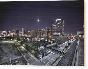 Dte In Detroit Wood Print by Nicholas  Grunas