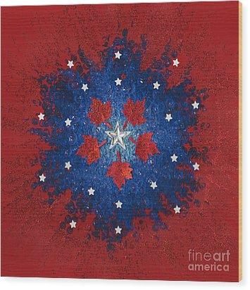 Dual Citizenship 2 Wood Print by First Star Art
