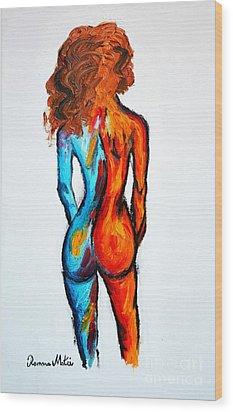 Duality Wood Print by Ramona Matei