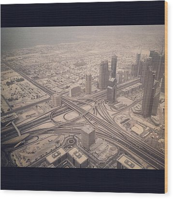 Dubai Citylife Wood Print by Maeve O Connell