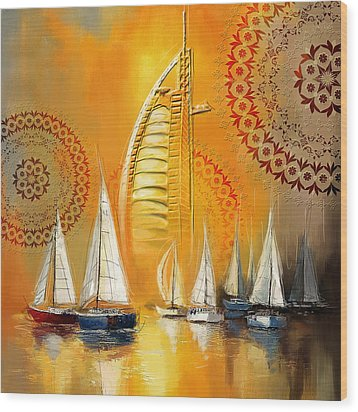 Dubai Symbolism Wood Print by Corporate Art Task Force