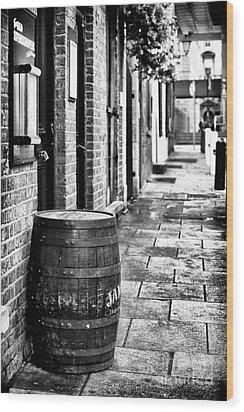 Dublin Street Wood Print by John Rizzuto