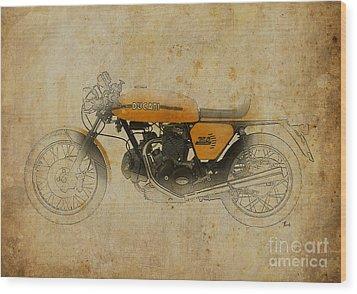 Ducati 750 Sport 1973 Wood Print by Pablo Franchi