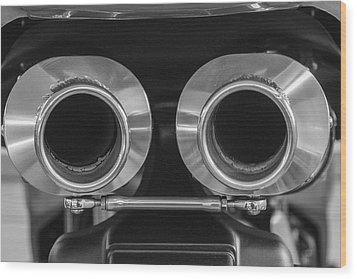 Ducati Twin Exhaust Wood Print