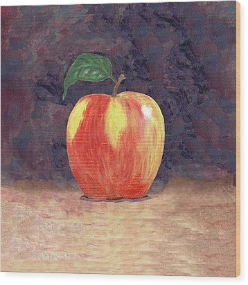 Duchess Apple Two Wood Print by Linda Mears