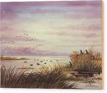 Duck Hunting Companions Wood Print