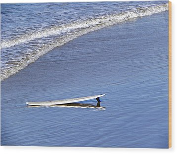 Wood Print featuring the photograph Dude Where Is My Surfer by Kathy Churchman