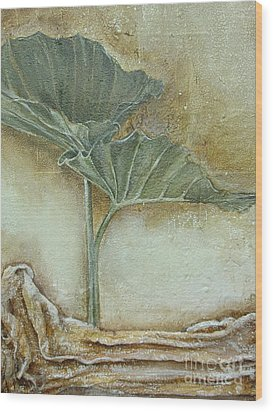 Wood Print featuring the mixed media Duet In Green by Delona Seserman