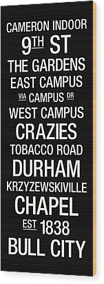 Duke College Town Wall Art Wood Print by Replay Photos
