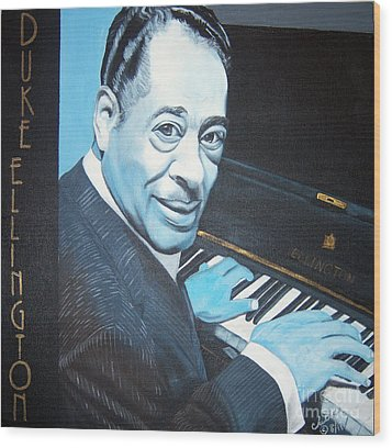 Duke Ellington Wood Print
