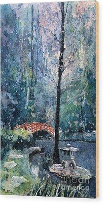 Duke Gardens Watercolor Batik Wood Print