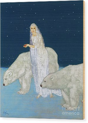 Dulac: The Ice Maiden, 1915 Wood Print by Granger