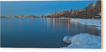 Duluth Dawn Wood Print by Gregory Israelson