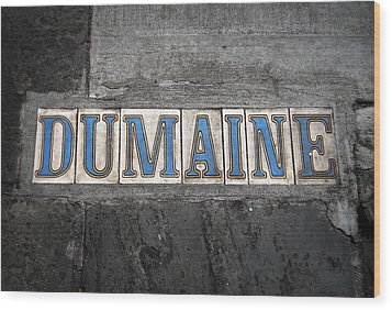 Dumaine Wood Print by Beth Vincent