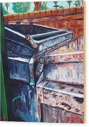 Dumpster No.8 Wood Print by Blake Grigorian