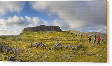Dun Aengus - Ancient Irish History Wood Print by Mark E Tisdale