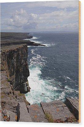 Dun Aengus Cliffs Wood Print