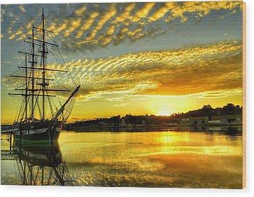 Dunbrody Famine Ship Wood Print
