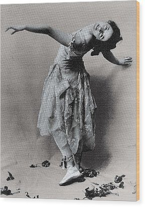 Duncan, Isadora 1878-1927. � Wood Print by Everett
