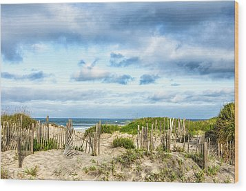 Wood Print featuring the photograph Dune At Coquina Beach by Gregg Southard