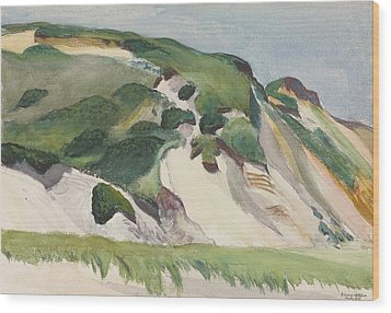Dune At Truro Wood Print by Edward Hopper