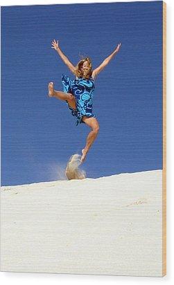 Dune Dance Wood Print by Ramona Johnston
