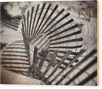 Storm Fence Series 1 Wood Print