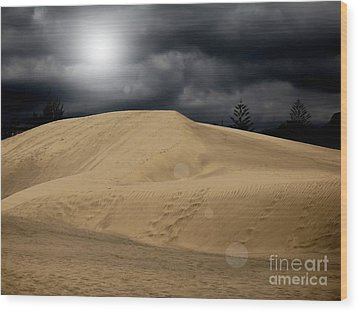 Dune Wood Print by Flow Fitzgerald