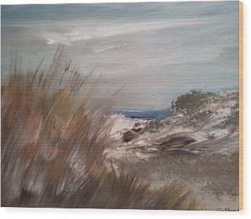 Dune Overlook Wood Print by Joseph Gallant