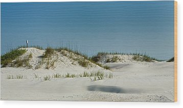Dune Sign Wood Print by Denis Lemay