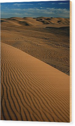Dune Sunset Wood Print by Scott Cunningham