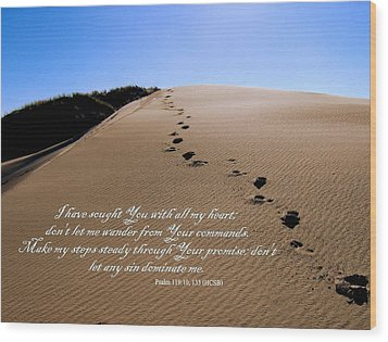 Dune Walk W/scripture 2 Wood Print