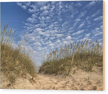 Dunes And Sky Wood Print
