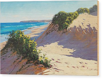 Dunes Central Coast Wood Print by Graham Gercken