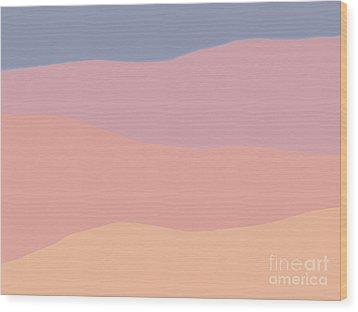 Dunes Forward Wood Print