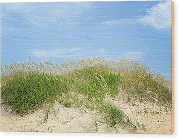 Dunes In Rodanthe Wood Print