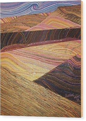 Dunes Wood Print by Maria VanderMolen