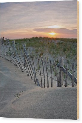 Dunes Of Cape Cod Wood Print