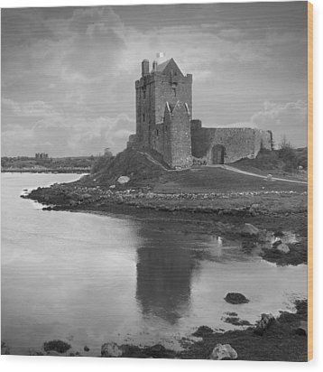 Dunguaire Castle - Ireland Wood Print by Mike McGlothlen