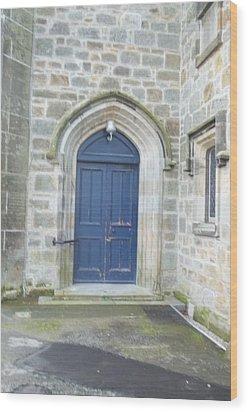 Dunlop Kirk Arched Doorway Wood Print