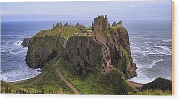 Dunnottar Castle Panorama Wood Print by Jason Politte