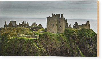 Wood Print featuring the photograph Dunnottar Castle Scotland by Sally Ross