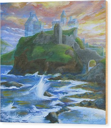 Dunscaith Castle - Shadows Of The Past Wood Print