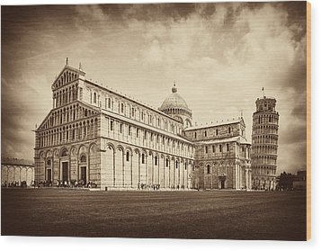 Wood Print featuring the photograph Duomo And Tower by Hugh Smith