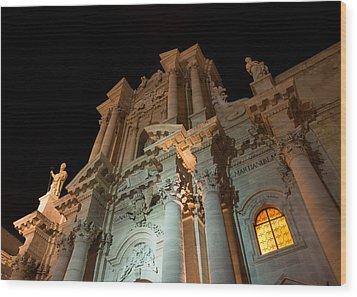 Duomo - Cathedral - Siracusa - Syracuse - Sicily - Italy Wood Print by Georgia Mizuleva